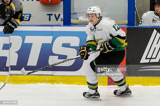 Julien Gauthier of the Vald'Or Foreurs skates during the QMJHL game against the BlainvilleBoisbriand Armada at the Centre d'Excellence Sports...