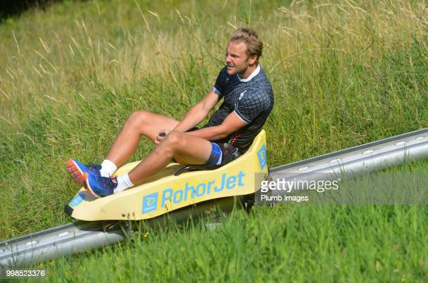 Julien Gorius during team bonding activities during the OHL Leuven training session on July 09 2018 in Maribor Slovenia