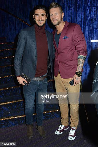 Julien Guirado from Secret Story and Benjamin Machet from Les Anges de la Telereality attend the Paris Nuit 2013 Night Clubbing Awards Ceremony at Le...