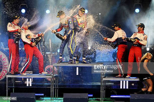Julien Ingrassia of France and Sebastien Ogier of France Mikka Anttila of Finland and Jari Matti Latvala of Finland Daniel Elena of Monaco and...