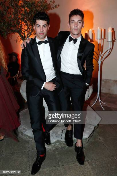 Julien Landais and Jonathan RhysMeyers attend the Celebrazione Party By Chopard and Generali To Honor The 75th Venice Film Festival at Palazzo...