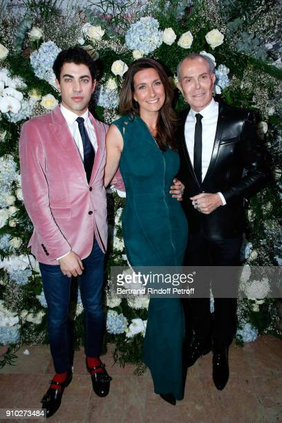 Julien Landais AnneClaire Coudray and JeanClaude Jitrois attend the 16th Sidaction as part of Paris Fashion Week on January 25 2018 in Paris France