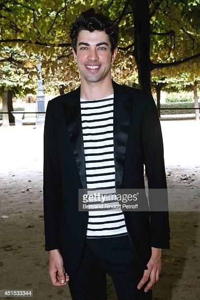 Julien Landais attends the 'Qeelin' high Jewellery Exhibition opening Cocktail 'Mogoaku in Paris' at Jardin du Palais Royal on June 30 2014 in Paris...