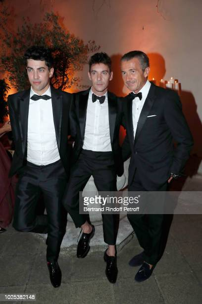 Julien Landais Jonathan RhysMeyers and Francois Sarkozy attend the Celebrazione Party By Chopard and Generali To Honor The 75th Venice Film Festival...