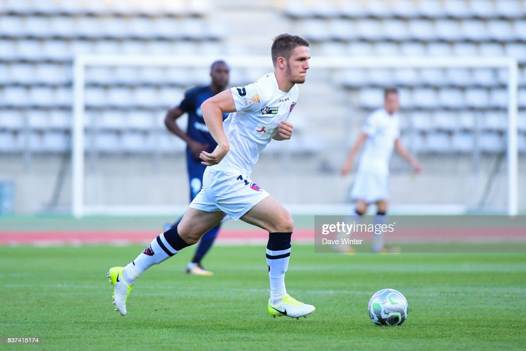 Julien Laporte of Clermont during the French League Cup match between Paris FC and Clermont Foot at Stade Charlety on August 22, 2017 in Paris, France.