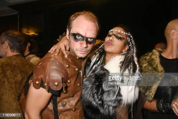 Julien Le Stum et Maia Kerchache attend the Bal Masque de Monsieur D At Pavillon d'Armenonville on October 18 2019 in Paris France