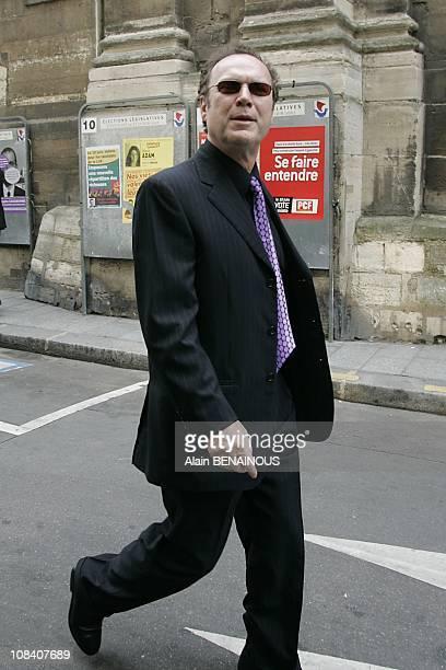 Julien Lepers in Paris France on June 04 2007
