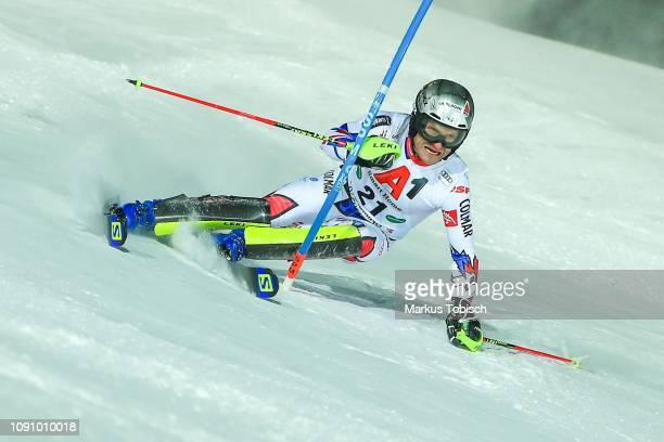 Julien Lizeroux of France during the Audi FIS Alpine Ski World Cup Men´s Slalom at Planai Race Hill on January 29, 2019 in Schladming, Austria.