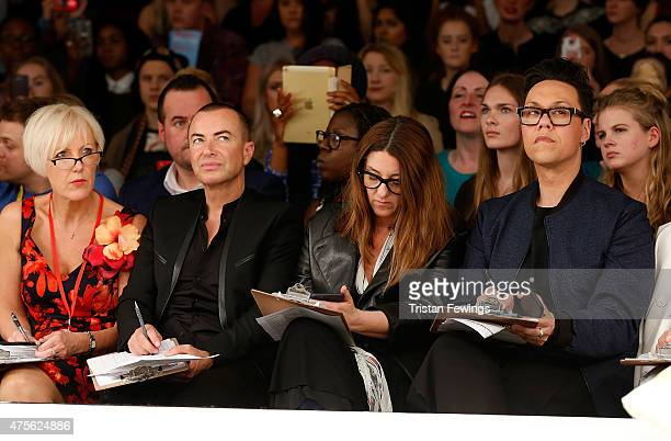 Julien Macdonald and Gok Wan during the Best of Graduate Fashion Week show on day 4 of Graduate Fashion Week at The Old Truman Brewery on June 2 2015...