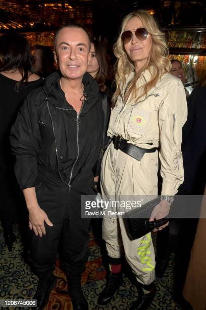 Julien Macdonald and guest attend the TOMMYNOW after party at Annabels on February 16 2020 in London England