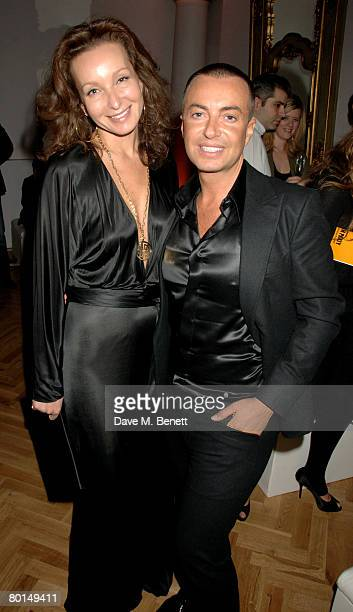 Julien Macdonald and Isabelle de La Bruyere attend the TOD's Art Plus Film Party, at 1 Marylebone Road on March 6, 2008 in London, England.