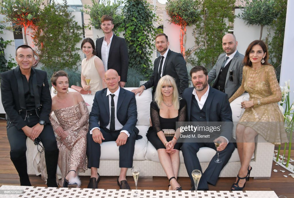 Julien Macdonald, Camilla Rutherford, Sophie Ellis Bextor, Richard Jones, Dominic Burns, Jo Wood, Luke Balter, Paul Scarborough, Justin Horne and Yasmin Mills attend a charity gala evening and performance of the play 'A Life-Long Pas' in honour of Rudolf Nureyev and Dame Margot Fonteyn, held by Club Eclectique & It's founders Anna Nasbina & Yulia Polvida, at The Yacht Club De Monaco on June 16, 2017 in Monaco, Monaco.