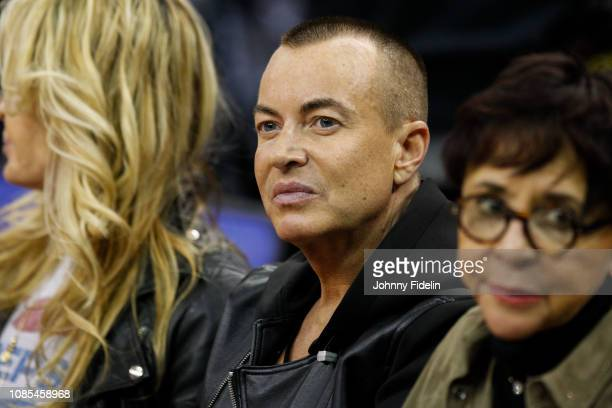 Julien Macdonald Fashion Designer prior the NBA game against Washington Wizards and New York Knicks at The O2 Arena on January 17 2019 in London...