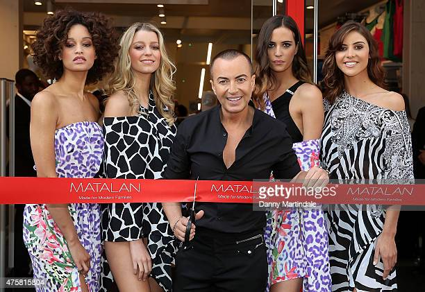 Julien Macdonald opens the Matalan's Oxford Street Store on June 4 2015 in London England