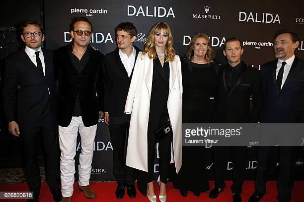 Julien Madon Vincent Perez Riccardo Scarmarcio Sveva Alviti Lisa Azuelos Nicolas Duvauchelles and JeanPaul Rouve attend 'Dalida' Paris Premiere at...
