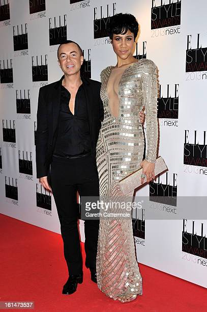 Julien Mcdonald and Zawe Ashton attend the Elle Style Awards at The Savoy Hotel on February 11 2013 in London England