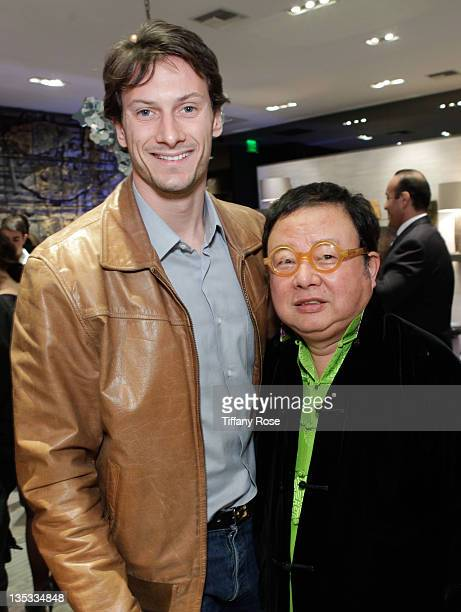 Julien Michel and Yuki attend the Opal Stone Luxury Handbags And Fine Jewelry Launch at Gray Gallery on December 8 2011 in Beverly Hills California