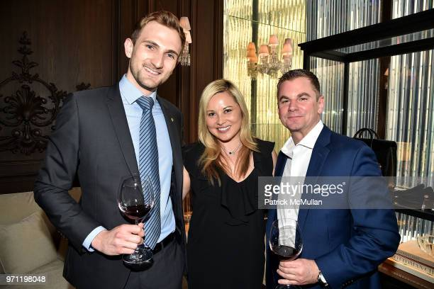 Julien Pardes Kimberly Fisher and Brian Phillips attend Christopher R King Debuts New Luxury Brand CCCXXXIII at Baccarat Hotel on June 5 2018 in New...