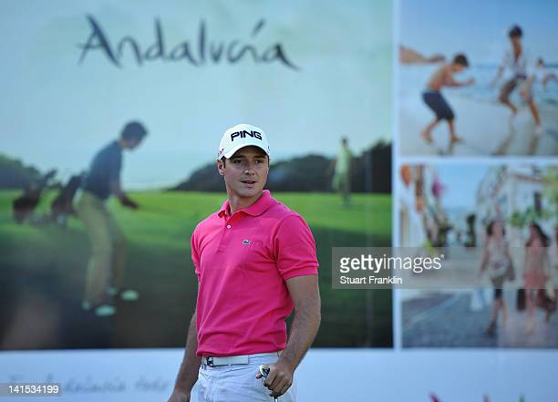Julien Quesne of France watches a shot during the final round of the Open de Andalucia Costa del Sol at Aloha golf club on March 18 2012 in Marbella...