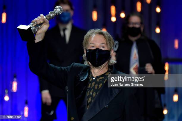 Julien Temple receives Special Jury Award during Closing Ceremony of 68th San Sebastian Film Festival at the Kursaal Palace on September 26, 2020 in...