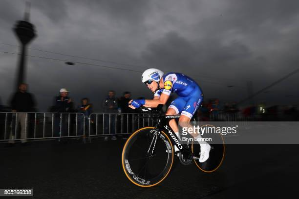 Julien Vermote of Belgium and QuickStep Floors competes during stage one of Le Tour de France 2017 a 14km individual time trial on July 1 2017 in...