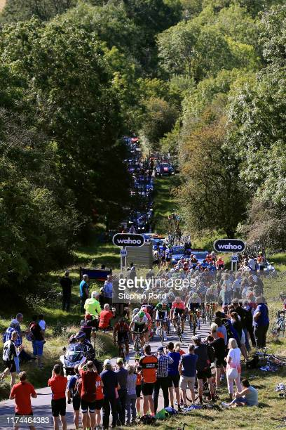 Julien Vermote of Belgium and Team Dimension Data / Ben Swift of Great Britain and Team INEOS / Simon Clarke of Australia and EF Education First Pro...