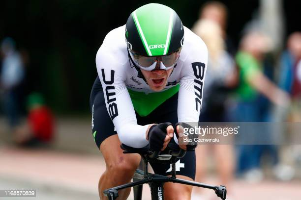 Julien Vermote of Belgium and Team Dimension Data / during the 15th Binck Bank Tour 2019 Stage 6 a 84km Individual Time Trial from Den Haag to Den...