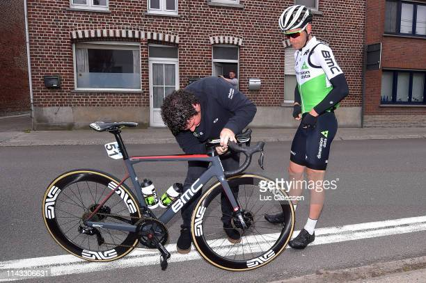 Julien Vermote of Belgium and Team Dimension Data / Mechanic / Mechanical Problem / during the 59th Brabantse Pijl 2019 a 1962km race from Leuven to...