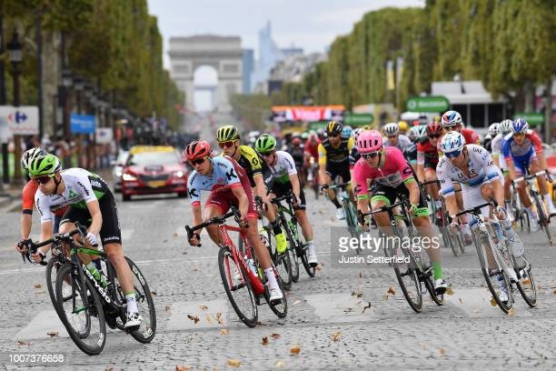 Julien Vermote of Belgium and Team Dimension Data / Pavel Kochetkov of Russia and Team Katusha / Thomas Scully of Australia and Team EF Education...