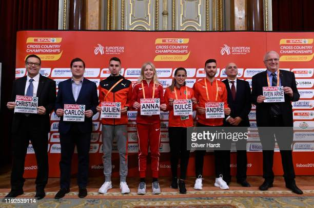 Julien Wanders of Switzerland Anna Emilie Moller of Denmark Ana Dulce Felix of Portugal Andre Pereira of Portugal and Svein Arne Hansen European...