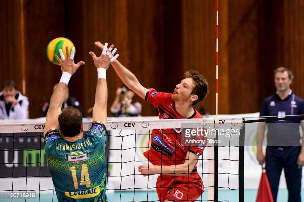 Julien Winkelmuller of Chaumont during the CEV Champions League match Chaumont 52 and SIR Safety Perugia on March 14 2019 in Reims France