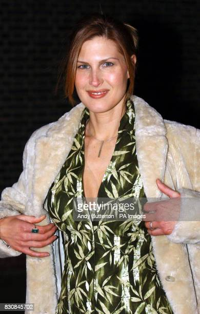 Julienne Davis arriving at the launch of Vertu at the Serpentine Gallery London