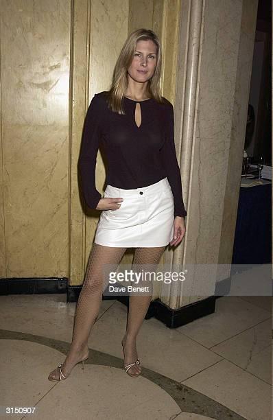 Julienne Davis attends the Harpers and Moet Restaurant Awards at Claridges Hotel on November 4 2003 in London
