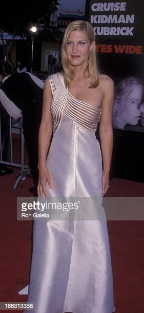 Julienne Davis attends the premiere of Eyes Wide Shut on July 13 1999 at Mann Village Theater in Westwood California