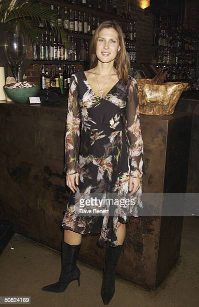 Julienne Davis attends the Renaissance Party at The Collection on January 16 2003 in London