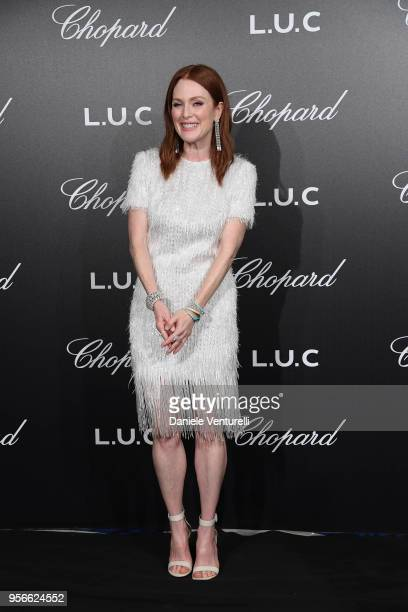 Julienne Moore attends the Chopard Gentleman's Night during the 71st annual Cannes Film Festival at Martinez Hotel on May 9 2018 in Cannes France