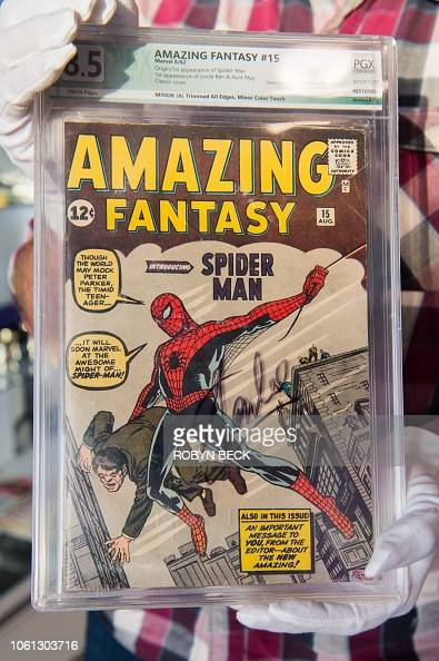 A Julien S Auctions Appraisal Consultant Displays The Stan Lee Signed News Photo Getty Images