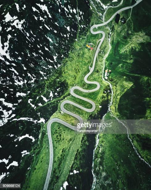 route de Suisse du col de Julier