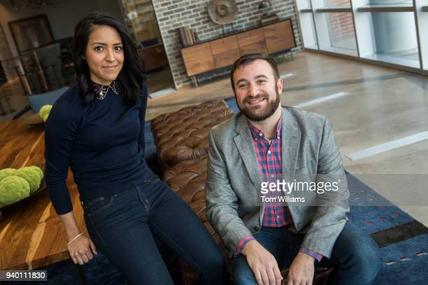 Juliet Albin and Josh Wolf are pictured before an interview about their campaign budgeting software Warchest at the WeWork in Navy Yard on March 29...