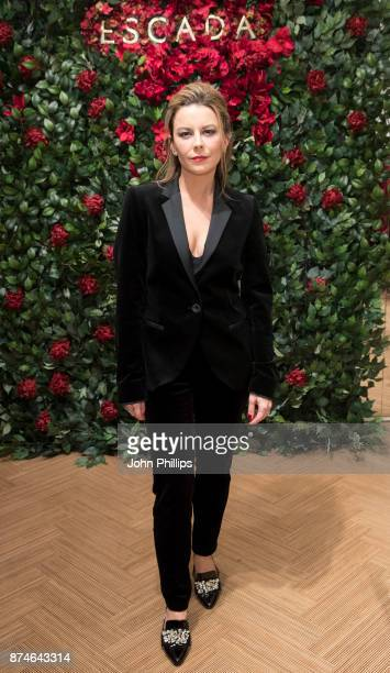 Juliet Angus attends New Flagship Store Opening of Luxury Fashion Brand ESCADA on Sloane Street on November 15 2017 in London England