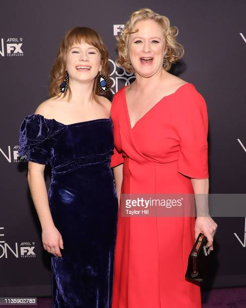 Juliet Brett and Nicole Fosse attend the premiere of Fosse/Verdon at the Gerald Schoenfeld Theatre on April 8 2019 in New York City