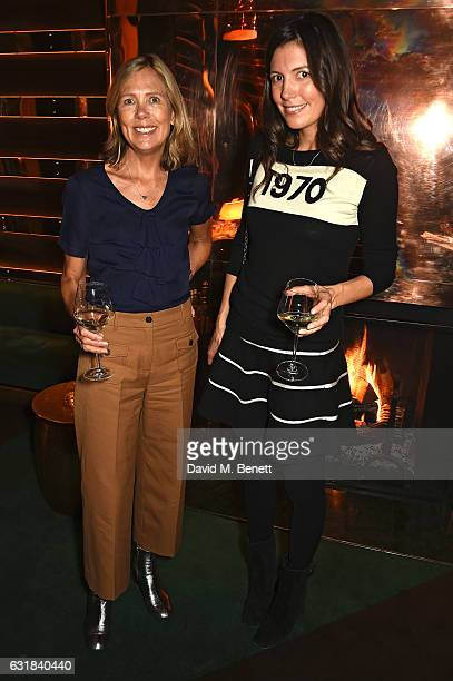 Juliet Herd and Amanda Sheppard attend the Rodial dinner hosted by Poppy Delevingne and Maria Hatzistefanis at Casa Cruz on January 16 2017 in London...