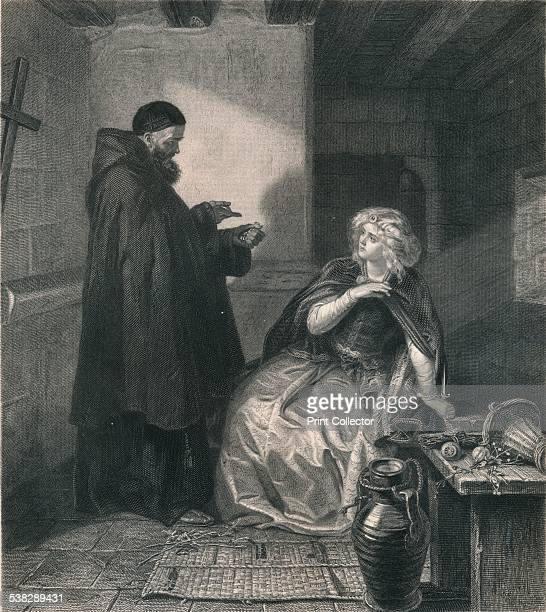Juliet in the Cell of Friar Lawrence 1867 After a work by Edward Matthew Ward From the 'Imperial Edition of The Works of Shakespere' published by...