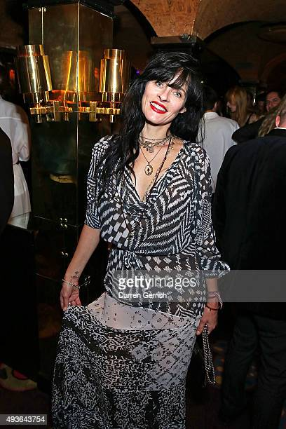 Juliet Larth attends A Bigger Splash premiere after party presented by AnOther x Dior at Annabel's on October 21 2015 in London England