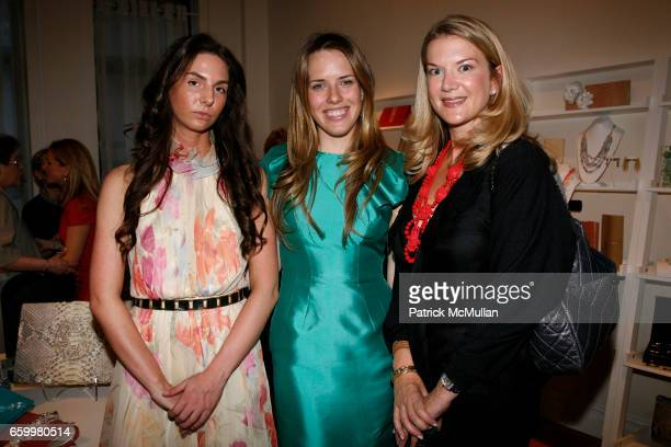 Juliet Lash Paige Gamble and Allison Adams attend PAIGE GAMBLE and KARA ACKERMAN Spring/Summer Trunk Show at The Pucci Building on May 20 2009 in New...