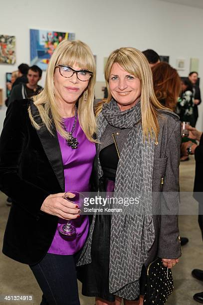 Juliet McIver and Marilyn Heston attend The Rema Hort Mann Foundation LA Artist Initiative Benefit Auction on November 21 2013 in Los Angeles...