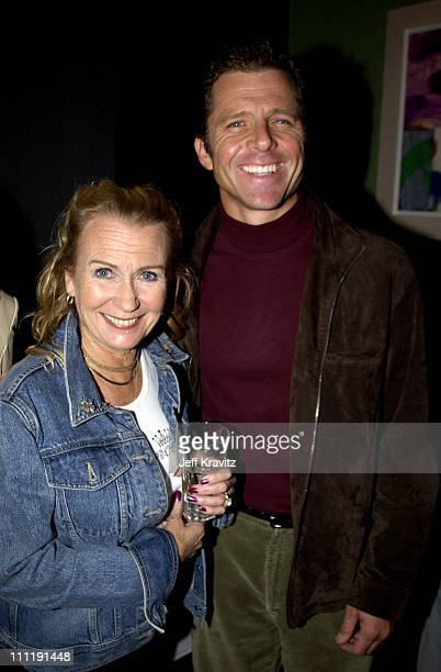 Juliet Mills and Maxwell Caulfield during A Benefit for Apt A Theater Company at La Vecchia in Santa Monica CA United States