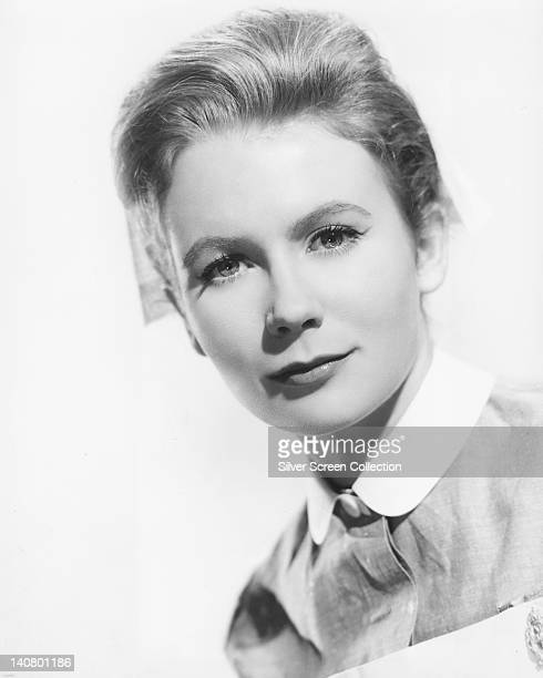 Juliet Mills British actress wearing a nurses costume in a studio portrait against a white background issued as publicity for the US television...