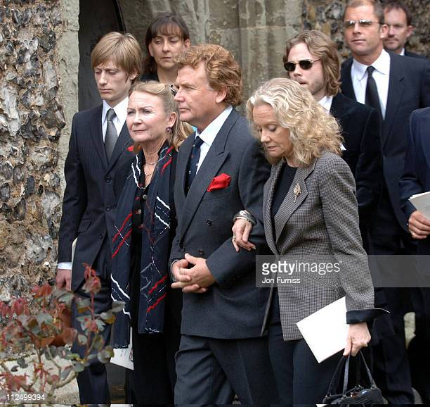 Juliet Mills Jonathan Mills and Hayley Mills during Funeral of Actor Sir John Mills April 27 2005 at The Parish Church of Saint Mary the Virgin in...