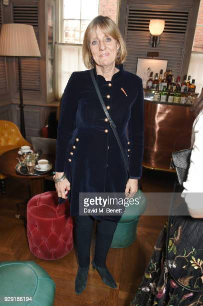 Juliet Nicolson attends the Harper's Bazaar lunch to celebrate International Women's Day at 34 Mayfair on March 8 2018 in London England
